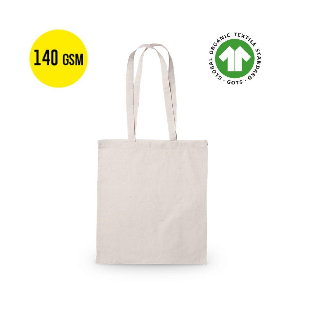Ecologische Katoenen draagtassen 140 grams