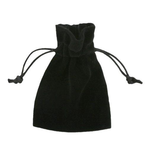Fluweel zakje zwart 7,5x10cm