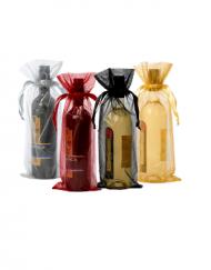 Organza zakje voor wijnfles