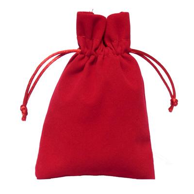 Fluweel bordeaux rood 10x15cm