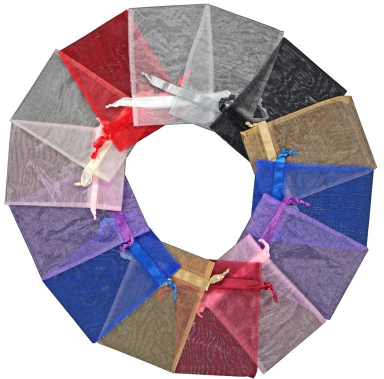organza zakje 20x28cm mixed colours 2.0