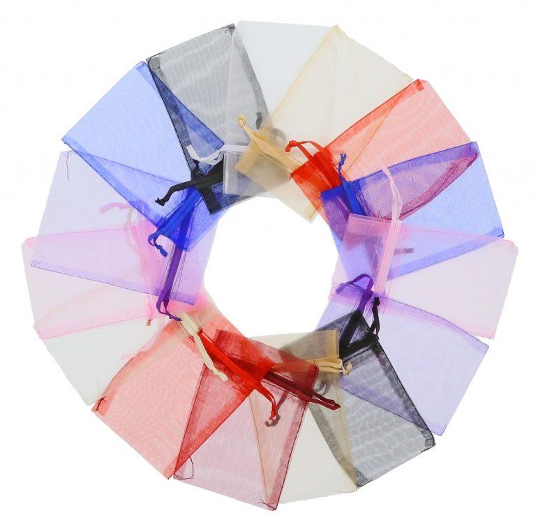 organza zakje 7x12cm mixed colours 2.0