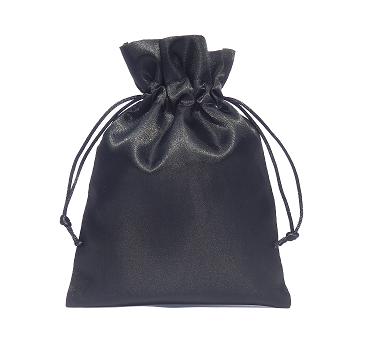 zwart satijn 15x20cm