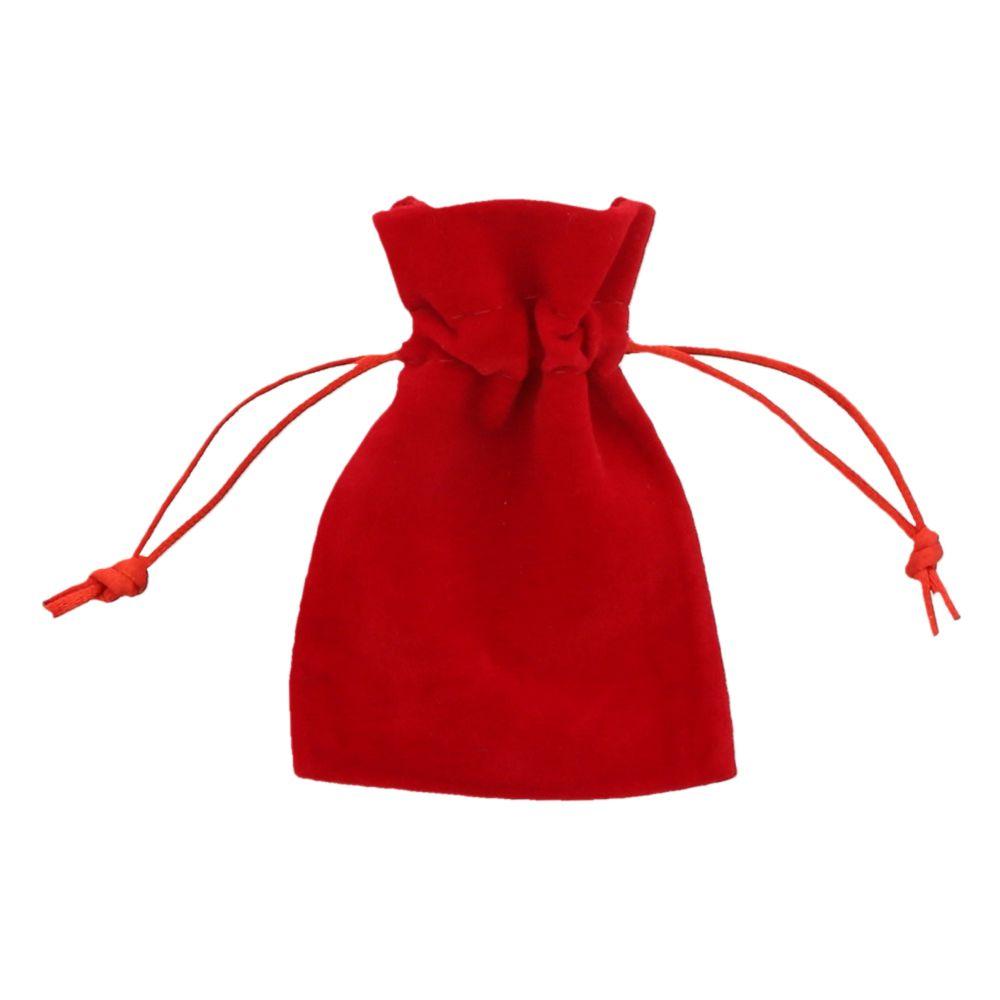 Fluweel zakje rood 7,5x10cm