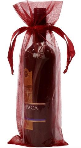 Wijnfles zak bordeaux rood 15x38cm