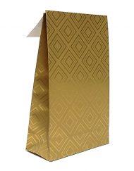 50 stuks Papieren Cadeauzakjes Golden Tiles met Kleefstrip en Blokbodem