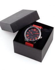 horloge doosje zwart 8,3x5,7x8,3cm