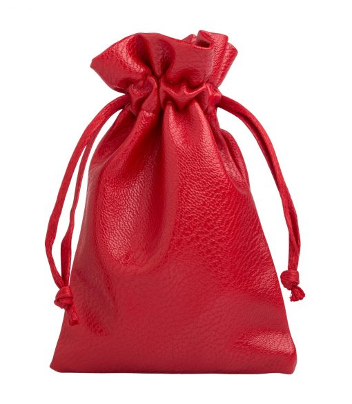 leather look rood 10x15cm