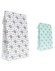 luxe cadeauzakjes met kleefstrip en blokbodem artic flower mint