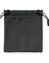 nylon zakje zwart 9,5x10cm