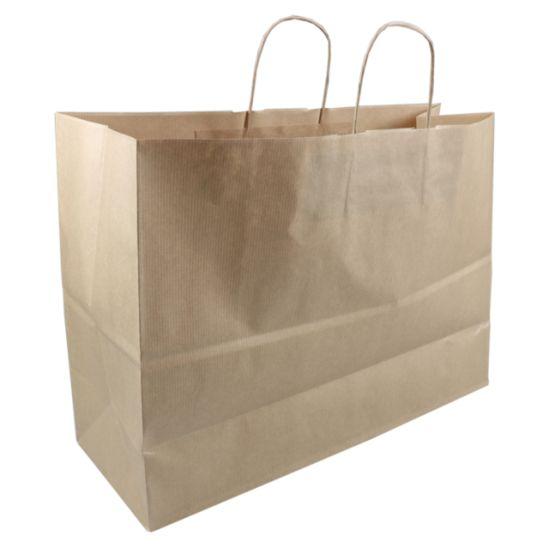 Tas, Kraftpapier, 45x17x33cm, papieren draagtas, bruin