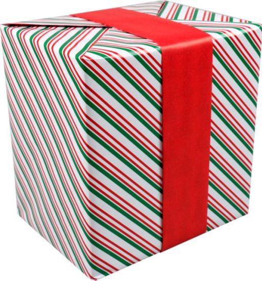 Cadeaupapier rood groen kerst