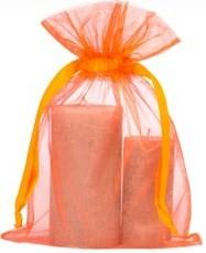 organza zak groot 20x28cm oranje
