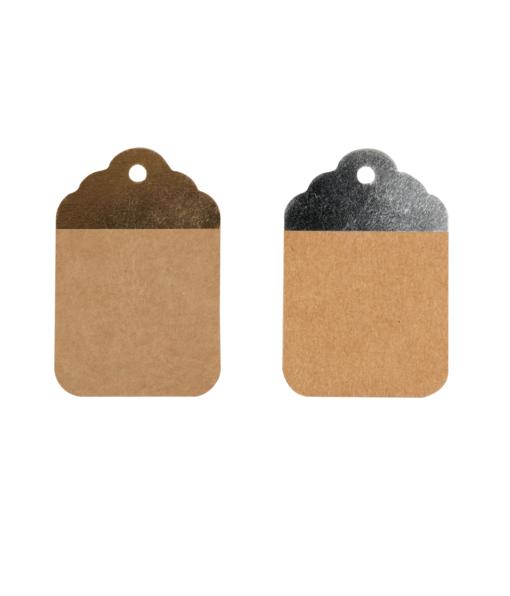adeaulabels kraft zilver en goud 8,5x5,5cm