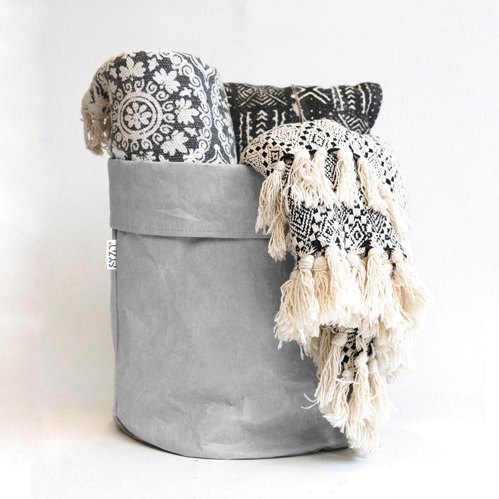 Paper-bag-Grey-decoration-living